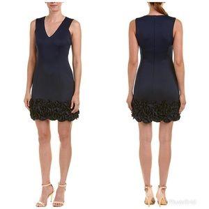 Never Worn Donna Ricco V-Neck Ruffle Hem Dress